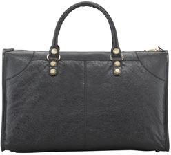 Balenciaga Giant 12 Golden Work Bag, Black