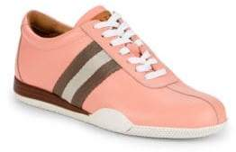 Bally Striped Leather Low-Top Sneakers