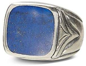 John Varvatos Collection Sterling Silver Square Lapis Ring