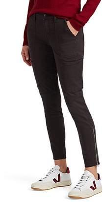 J Brand Women's Stretch Cotton-Blend Skinny Crop Utility Pants - Black
