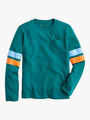 J.Crew crewcuts by Boys' Sport Stripe Pocket T-Shirt, Green