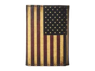 M&F Western Vintage USA Flag Trifold Wallet