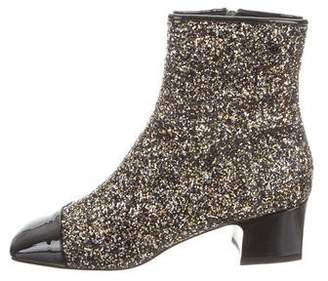 Chanel 2017 Glitter Ankle Boots