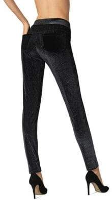 Fogal Kara Metallic Pinstripe Velvet Leggings