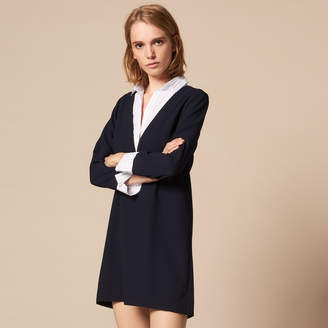 Sandro A-line dress with a shirt collar