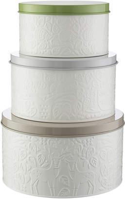 Mason Cash 3 Piece Forest Coated Steel Cake Tin Set
