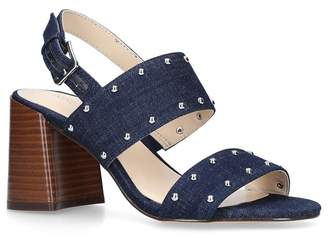 Nine West Blue 'Gabronica' Mid Heel Sandals
