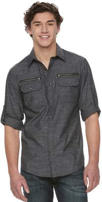 Rock & Republic Men's Zipper-Pocket Button-Down Shirt
