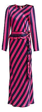 E.m. Maggie Marilyn Maggie Marilyn Women's Get Girl Striped Silk Maxi Dress
