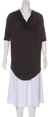 Helmut Lang Silk Short Sleeve Tunic Silk Short Sleeve Tunic