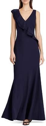 Ralph Lauren Ruffle-Trimmed Jersey Gown