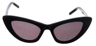 Saint Laurent Lily Cat-Eye Sunglasses Red Lily Cat-Eye Sunglasses