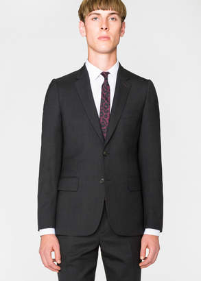 Paul Smith Men's Tailored-Fit Charcoal Wool 'A Suit To Travel In' Blazer
