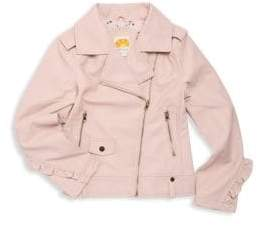 C&C California Girl's Ruffle Moto Jacket