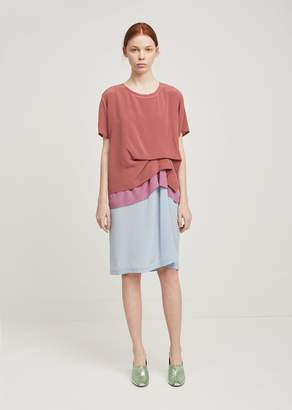 Sies Marjan Joey Color Block T-Shirt Dress Blue Blush