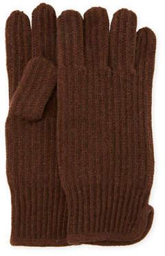 """Portolano Men's Cashmere 11"""" Gloves"""