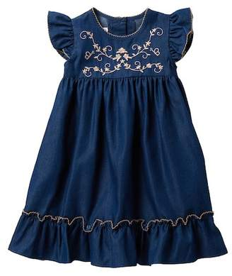 Iris & Ivy Flutter Sleeve Denim Dress (Little Girls)
