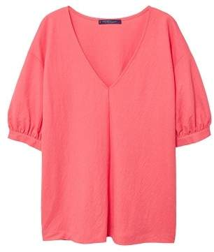 Violeta BY MANGO Puffed sleeves t-shirt