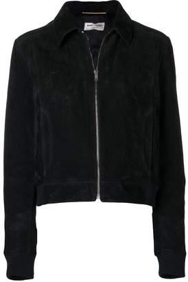 Saint Laurent classic zipped jacket