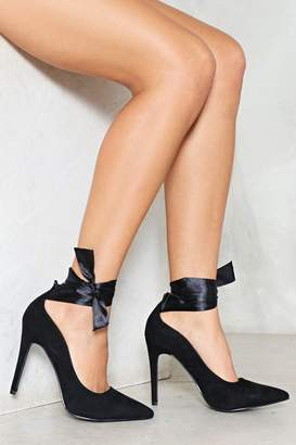 Nasty Gal Our Ankles Are Tied Heel Pump