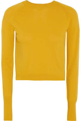 DKNY Cropped Knitted Sweater - Mustard