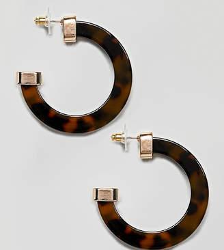 Aldo Ulerran chunky hoop earrings in tortoise shell
