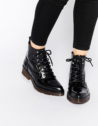 Bronx Chunky Lace Up Ankle Boots $94 thestylecure.com