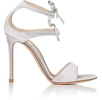 Gianvito Rossi Women's Velvet Darcy Double-Strap Sandals