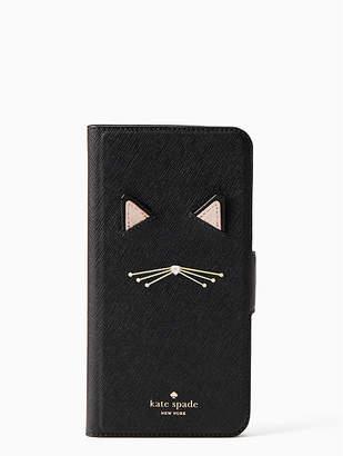 Kate Spade Cat Applique Folio - 8 Plus
