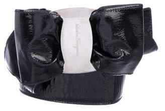 Salvatore Ferragamo Patent Leather Waist Belt