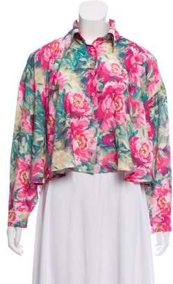 Unif Floral Print Cutout Blouse