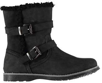 Miso Kids Girls Faith Biker Child Boots Rugged Zip Strap Buckle Comfortable Fit