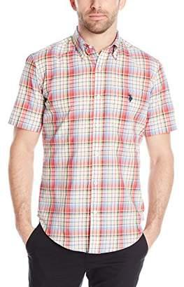 U.S. Polo Assn. Men's Button Down Slim Fit Madras Plaid Shirt