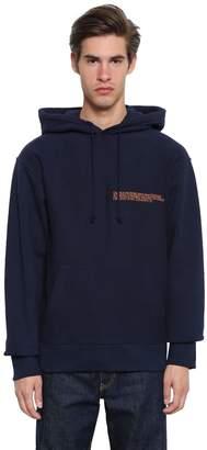 Calvin Klein Hooded Cotton Sweatshirt W/ Embroidery