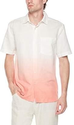 Isle Bay Linens Men's Slim Fit Dip Dye Short Sleeve Shirt