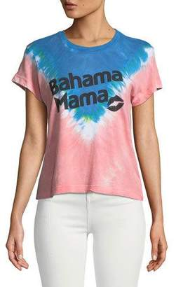 Wildfox Couture Bahama Mama Graphic Tie-Dye Tee