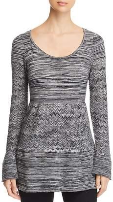 Heather B Marled Tunic Sweater