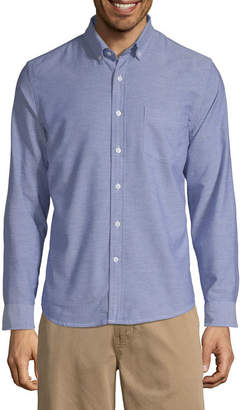ST. JOHN'S BAY Mens Long Sleeve Button-Front Shirt