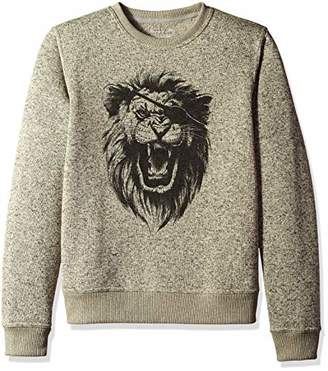 Lucky Brand Men's SHEARLESS Fleece Monster Crew Neck Sweatshirt