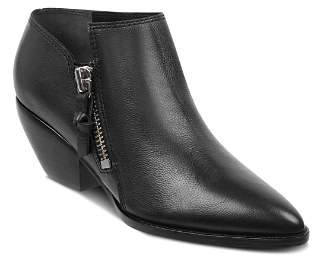 Sigerson Morrison Women's Hannah Pointed Toe Western Leather Ankle Booties