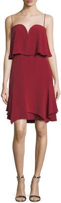 Neiman Marcus Kobi Halperin Trina Sweetheart Tiered Silk Cocktail Dress