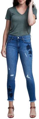 Seven7 Distressed & Frayed Signature Skinny Jeans