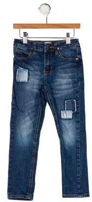 Hudson Girls' Five Pockets Straight-Leg Jeans