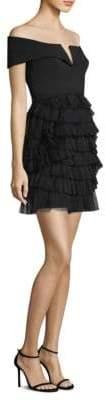 BCBGMAXAZRIA Marquise Off-the-Shoulder Sheath Dress