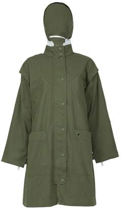 Proenza Schouler washed military hooded coat