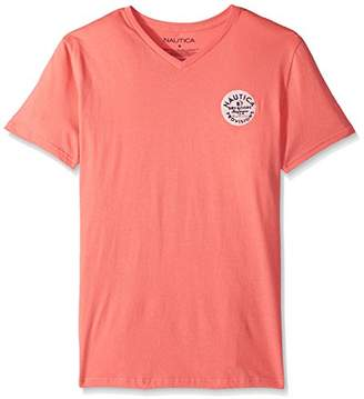 Nautica Men's Short Sleeve V Neck Cotton T-Shirt