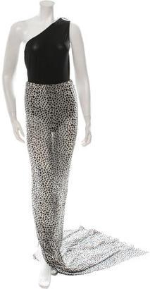 Jean Paul Gaultier One-Shoulder Dress $595 thestylecure.com