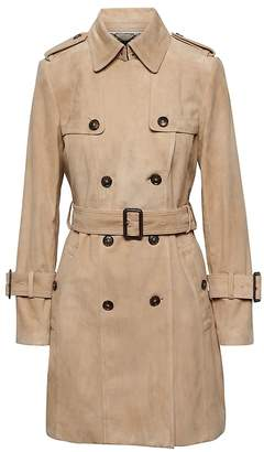 Banana Republic Suede Classic Trench Coat