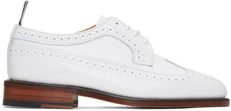 Thom Browne White Classic Longwing Brogues $1,050 thestylecure.com