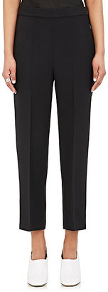 Calvin Klein Women's Wool-Silk Crepe Crop Trousers $895 thestylecure.com